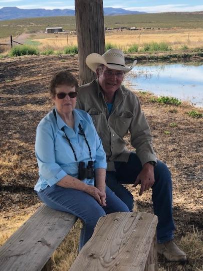 Kay Charter Executive Director Of Saving Birds Thru Habitat; Dave Wilson Sandia Wetlands Project Manager.